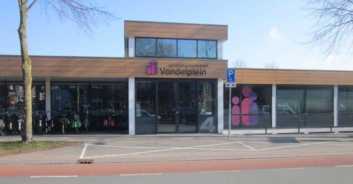 Gevel gezondheidscentrum Vondelplein Amersfoort